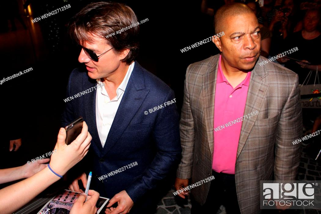 Tom Cruise, Simon Pegg and Rebecca Ferguson spotted in