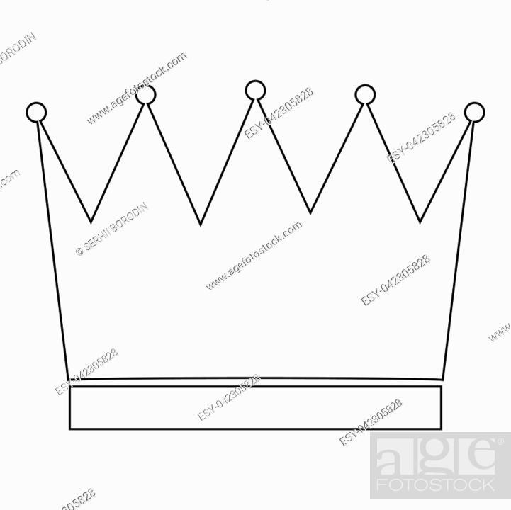 Vector: Crown the black color icon vector illustration.