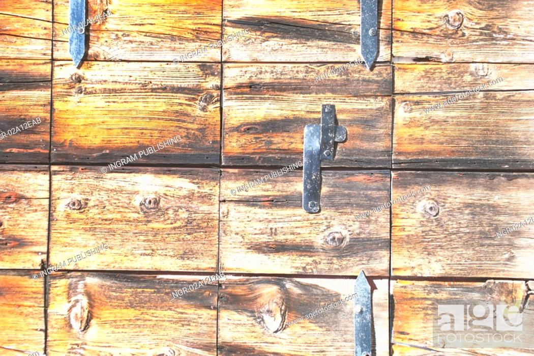 Stock Photo: Close-up of a wooden box.