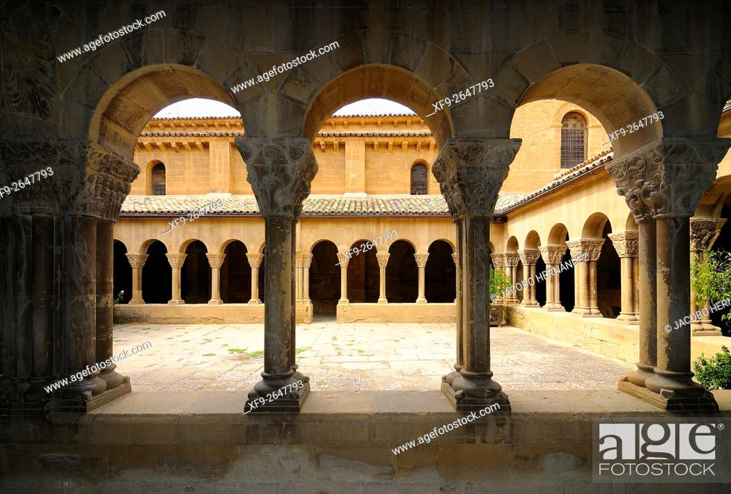 Stock Photo: Romanesque church of San Pedro el Viejo.Huesca.Aragón.Spain.