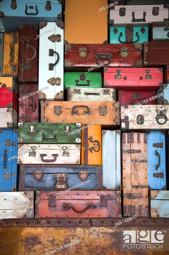 Stock Photo: Dominican Republic, Punta Cana Region, Bavaro, Luggage display.