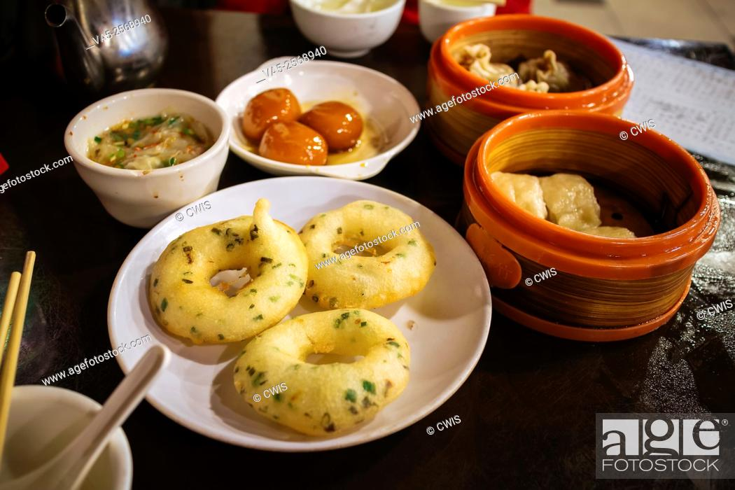 Stock Photo: Changsha, Hunan province, China - the delicious snack at the Huogongdian restaurant.