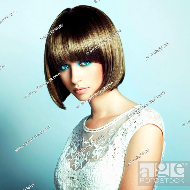 Portrait Of Beautiful Sensual Woman With Elegant Hairstyle Retro