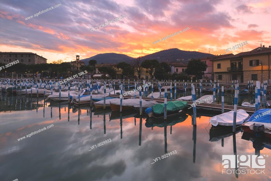 Stock Photo: Clusane d'Iseo, Iseo lake, Brescia province, Lombardy district, Italy, Europe.