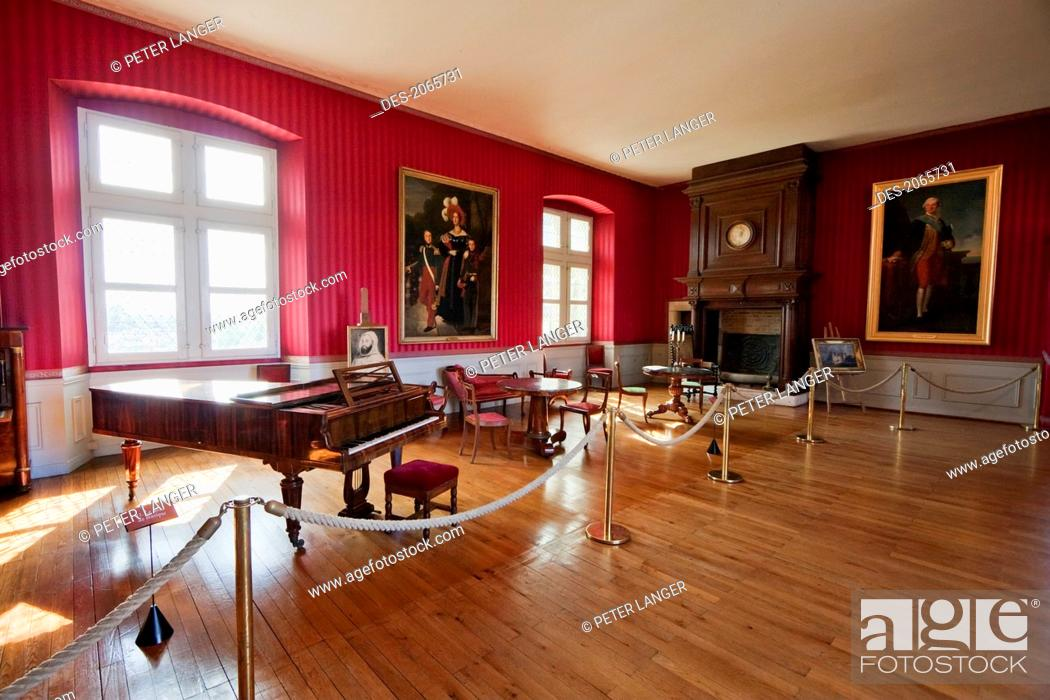 Stock Photo: Music Room Of The Chateau D'amboise, Amboise, France.