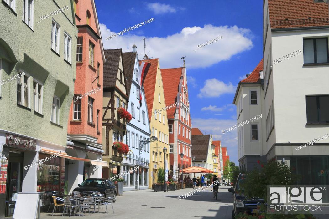 Stock Photo: Memmingen, Bavaria, Germany.