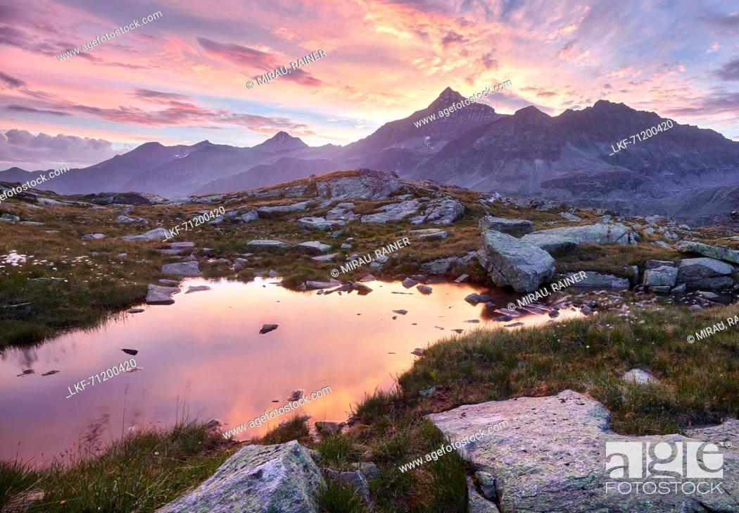 Stock Photo: High-Iser, Glockner Group, Hohe Tauern National Park, Salzburg, Austria.