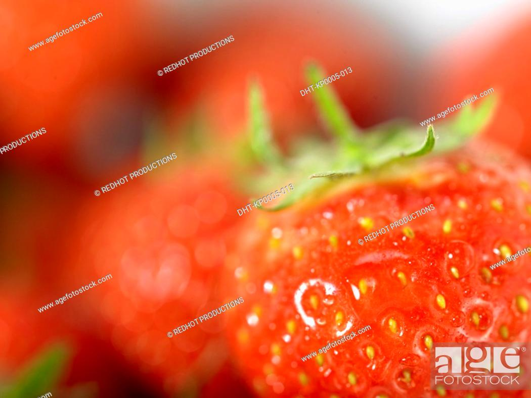 Stock Photo: Strawberries close up.