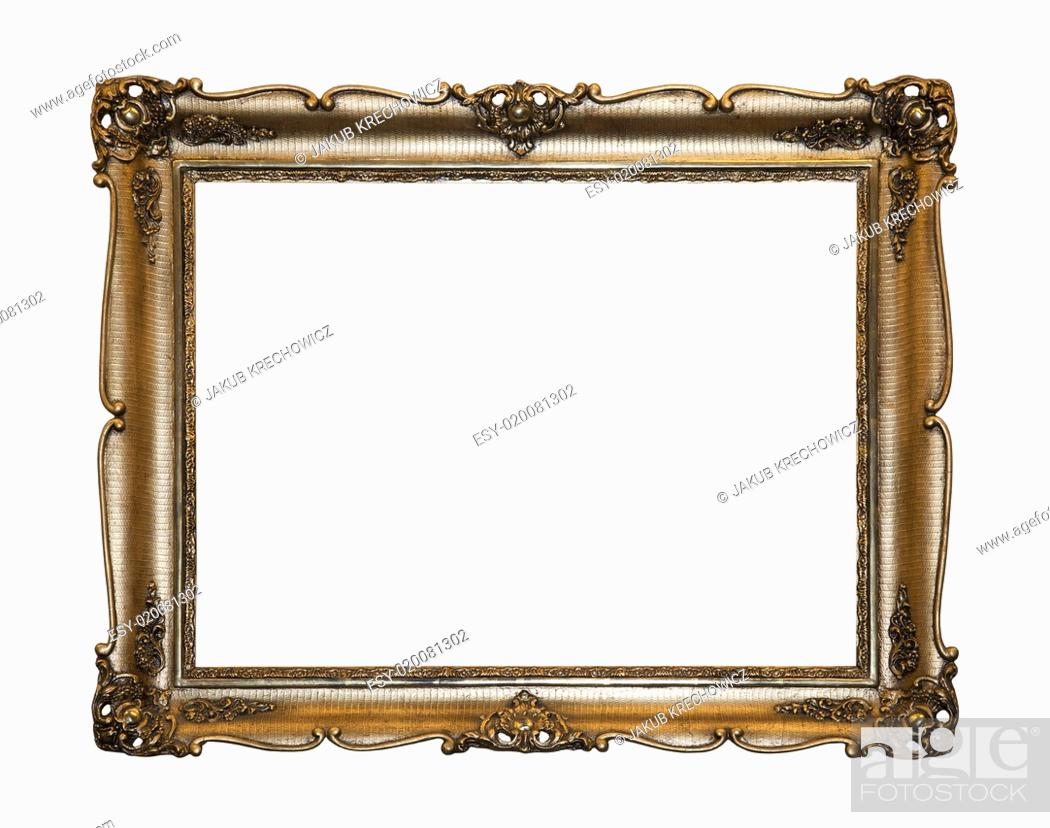 Stock Photo: Picture frame with clipping path.