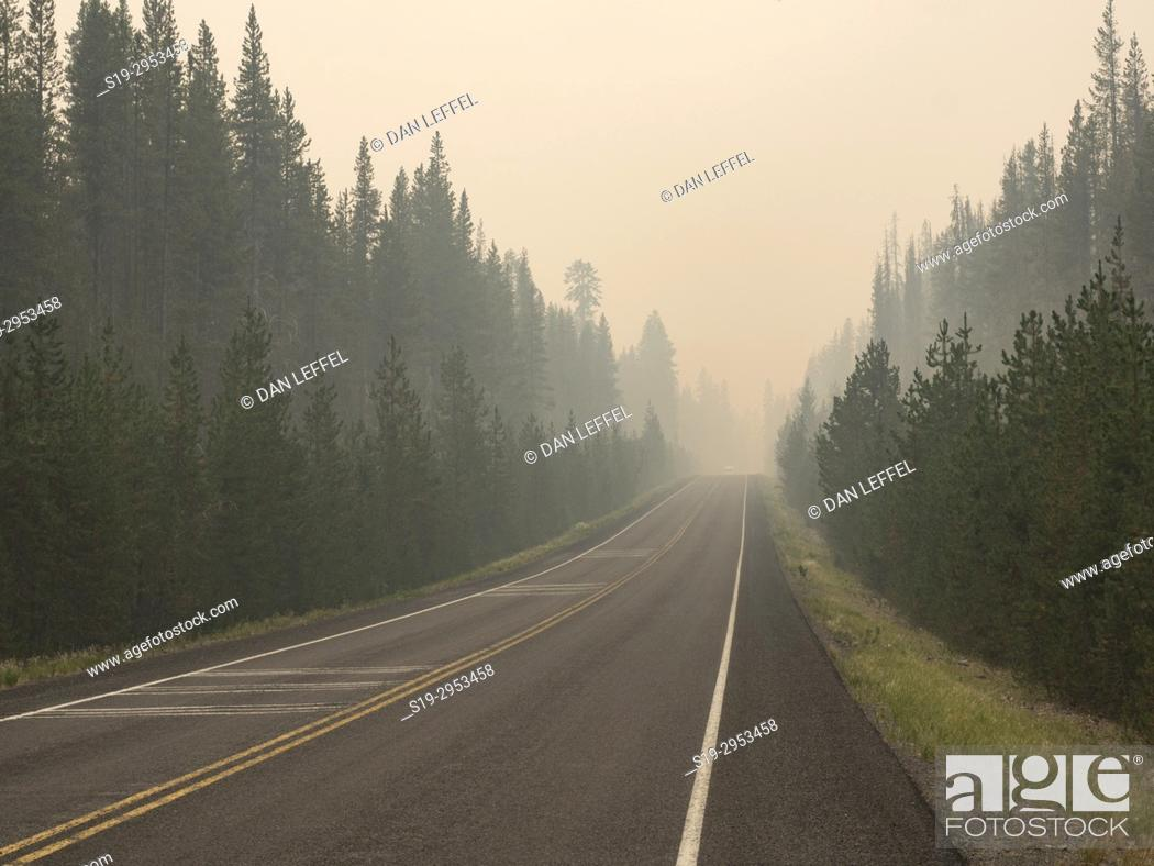 Imagen: Crater Lake National Park Forest Fire. USA.
