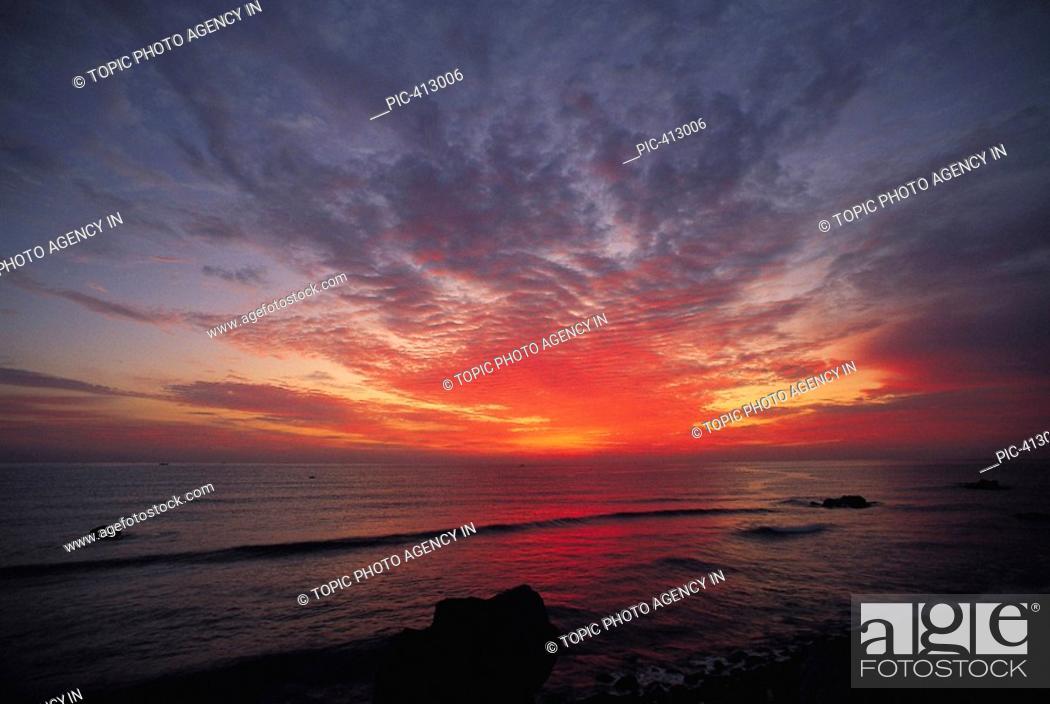 Stock Photo: Sunset,Korea.