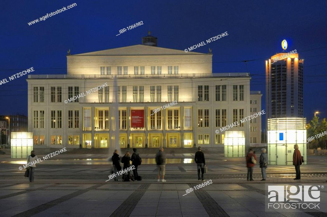 Opera House Augustusplatz Leipzig Saxony Germany Europe Stock Photo Picture And Rights Managed Image Pic Ibr 1066982 Agefotostock