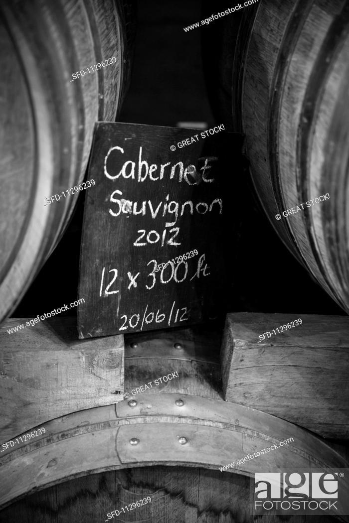 Stock Photo: Wooden wine barrels.
