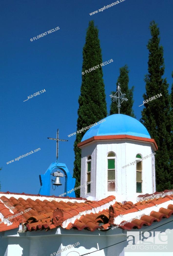 Stock Photo: Greece - Central Greece - Deofina Chapel.