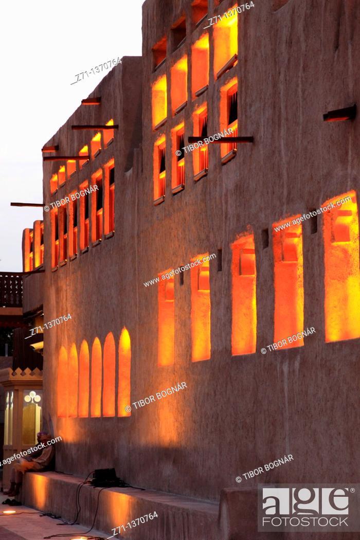Stock Photo: United Arab Emirates, Dubai, Sheikh Saeed al-Maktoum House,.