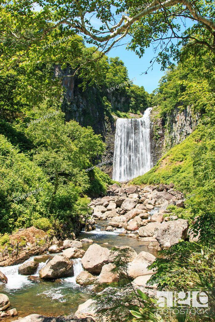 Stock Photo: Garo Waterfall in Hokkaido, Japan.