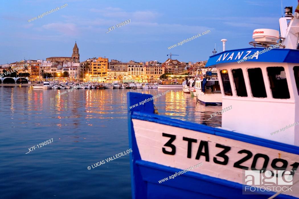Stock Photo: Port of Palamos. Costa Brava, Girona province, Catalonia, spain.