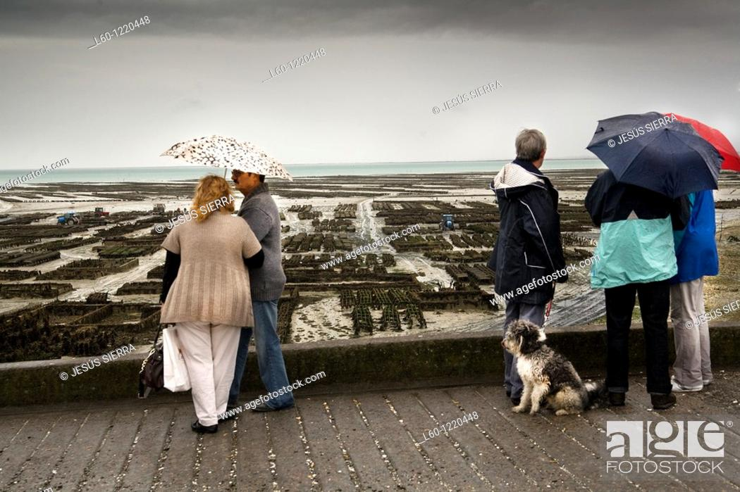 Stock Photo: People in Cancale France.