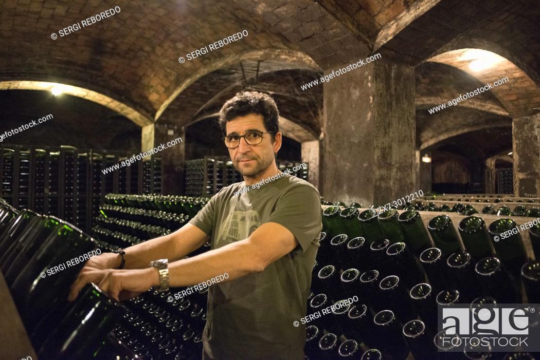 Stock Photo: Inside Blancher winery industry. Sant Sadurni d'Anoia, San Sadurni de Noya. Winery building. Catalonia Spain.