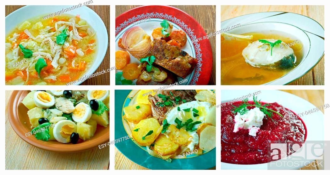 Stock Photo: Food set .spanish and Portuguese traditional cuisine.closeup.