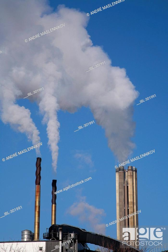 Stock Photo: Chimneys from industries.