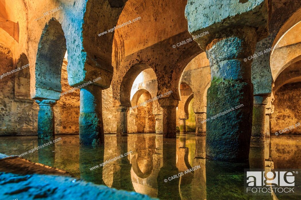 Stock Photo: Cistern of Caceres in Extremadura, Spain.
