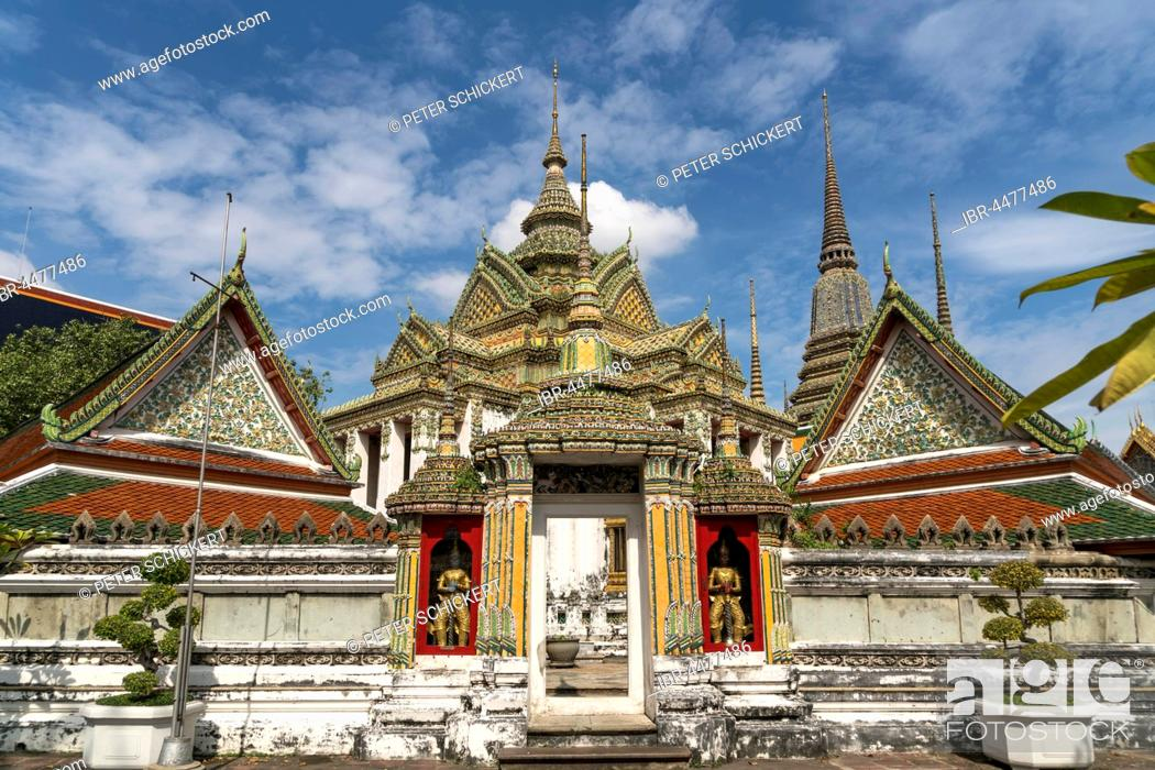 Stock Photo: Phra Mondop temple, Buddhist temple complex Wat Pho, Bangkok, Thailand.