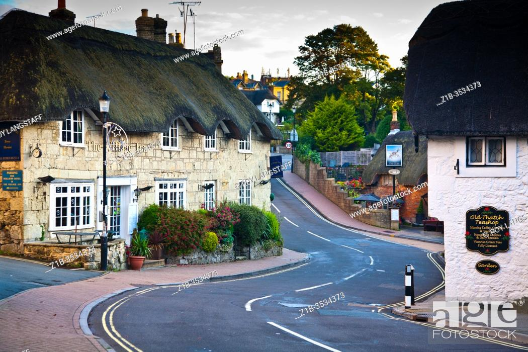 Photo de stock: Narrow street through Shanklin Old Village on the Isle of Wight.