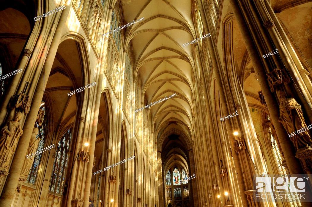Stock Photo: abbey church Saint-Ouen of Rouen in Normandy.