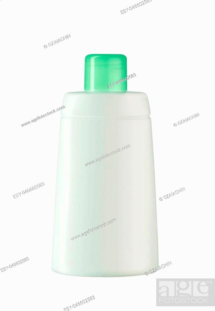 Imagen: White lotion bottle isolated on white.