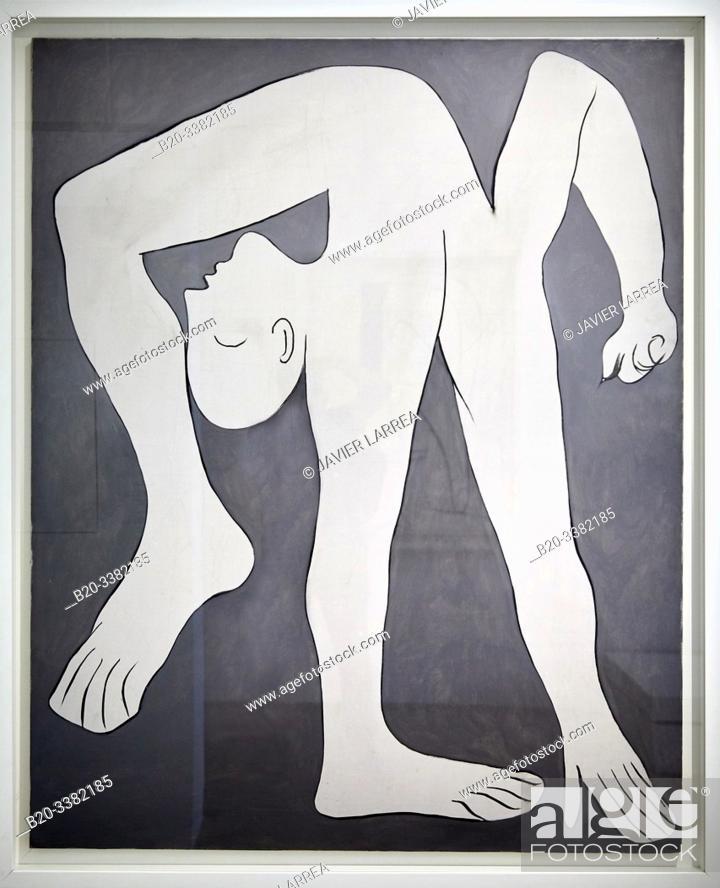 "Stock Photo: ""The Acrobat"", 1930, Pablo Picasso, Picasso Museum, Paris, France, Europe."