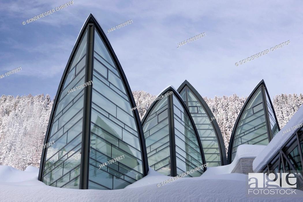 Stock Photo Hotel Tschuggen Arosa Mountain Mountains Winter Canton Gr Graubünden Grisons Catering Restaurant Wellness Water Health