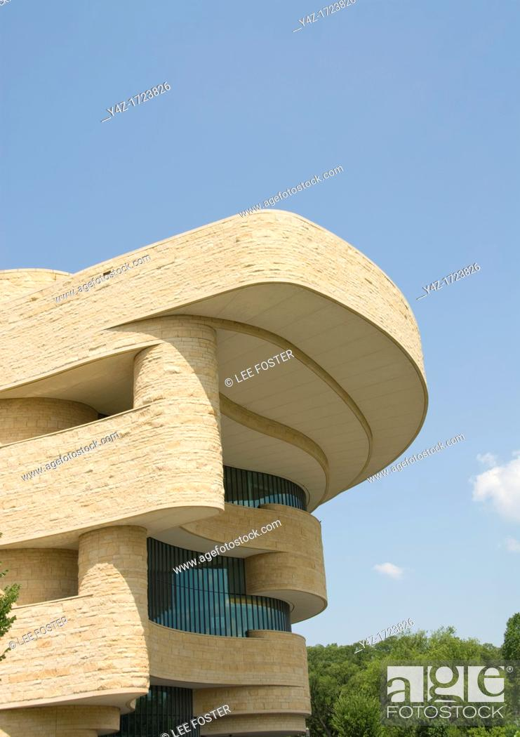 Stock Photo: Washington DC, USA, National Museum of the American Indian, an inspiring example of architecture on the Mall.
