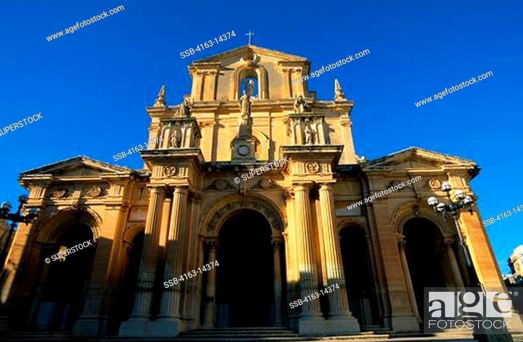 Stock Photo: MALTA, SIGGIEWI TOWN, CHURCH OF ST. NICHOLAS.
