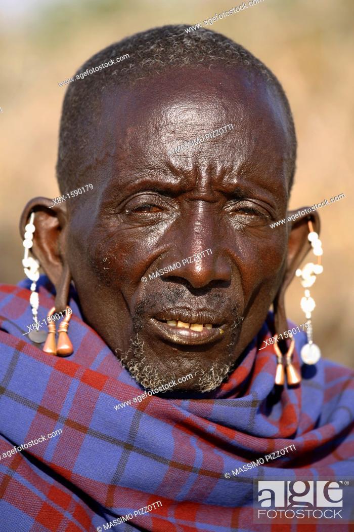 Imagen: Portrait of a Maasai man, Ngogongoro conservation Area, Tanzania.