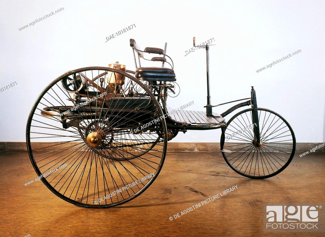 The first automobile powered by an internal combustion engine, 1885 ...