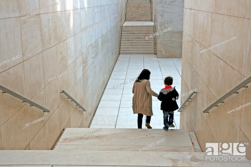Stock Photo: stairs, CaixaForum, Barcelona, Catalonia, Spain.