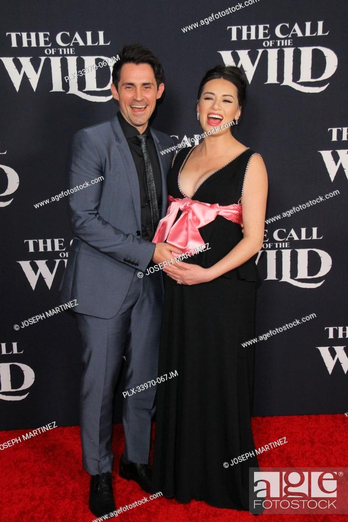 """Stock Photo: Richard de Klerk, Cara Gee at """"""""The Call Of The Wild"""""""" World Premiere held at El Capitan Theatre in Los Angeles, CA, February 13, 2020."""