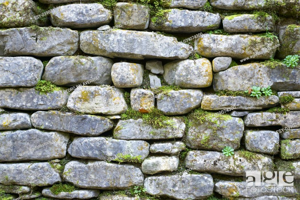 Stock Photo: Stone wall detail in high resolution.