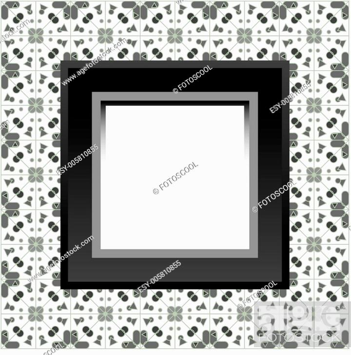 Stock Vector: Frame with empty space on the floral wallpaper.