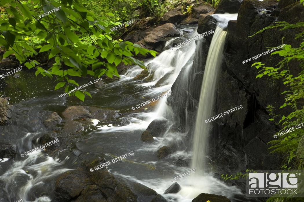 Stock Photo: Southford Falls, Southford Falls State Park, Connecticut.