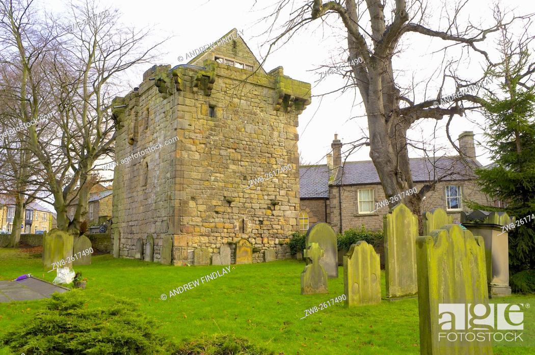 Stock Photo: Vicar's Pele, Corbridge Pele Tower. Corbridge, Northumberland, England, United Kingdom, Europe.