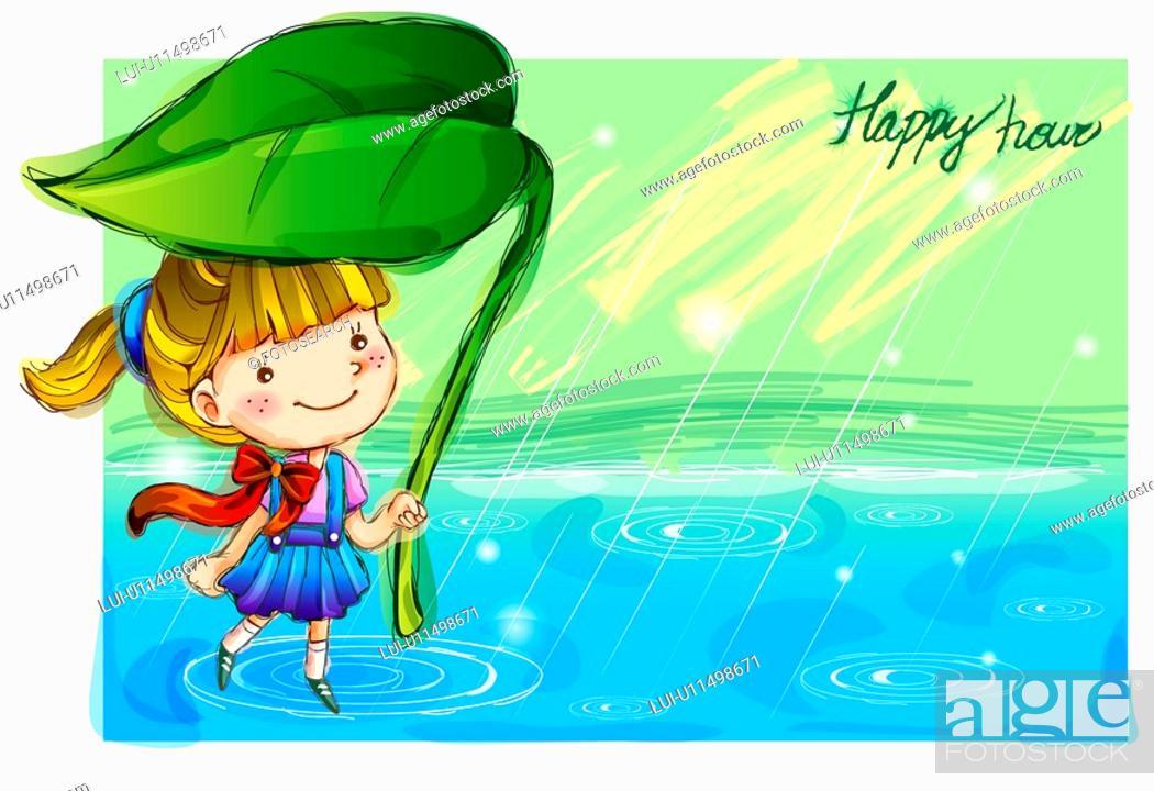 Stock Photo: imaginative, fairy tale, imagination, fancy, rain, nature.