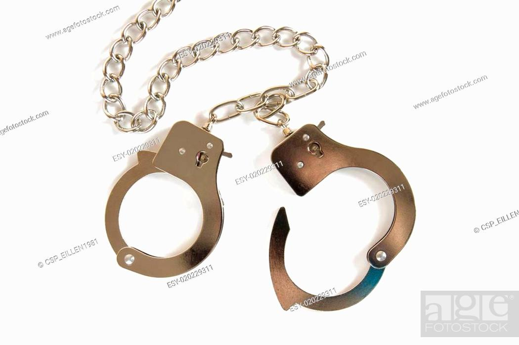 Photo de stock: Close up of a pair of handcuffs.