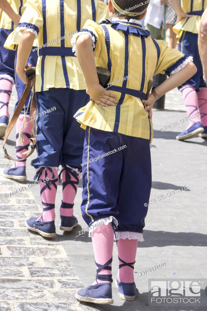 Stock Photo: MORELLA SPAIN ON AUGUST 26, 2018: The Sexenni is one of the oldest festival in Spain, was celebrated for the first time in 1678.