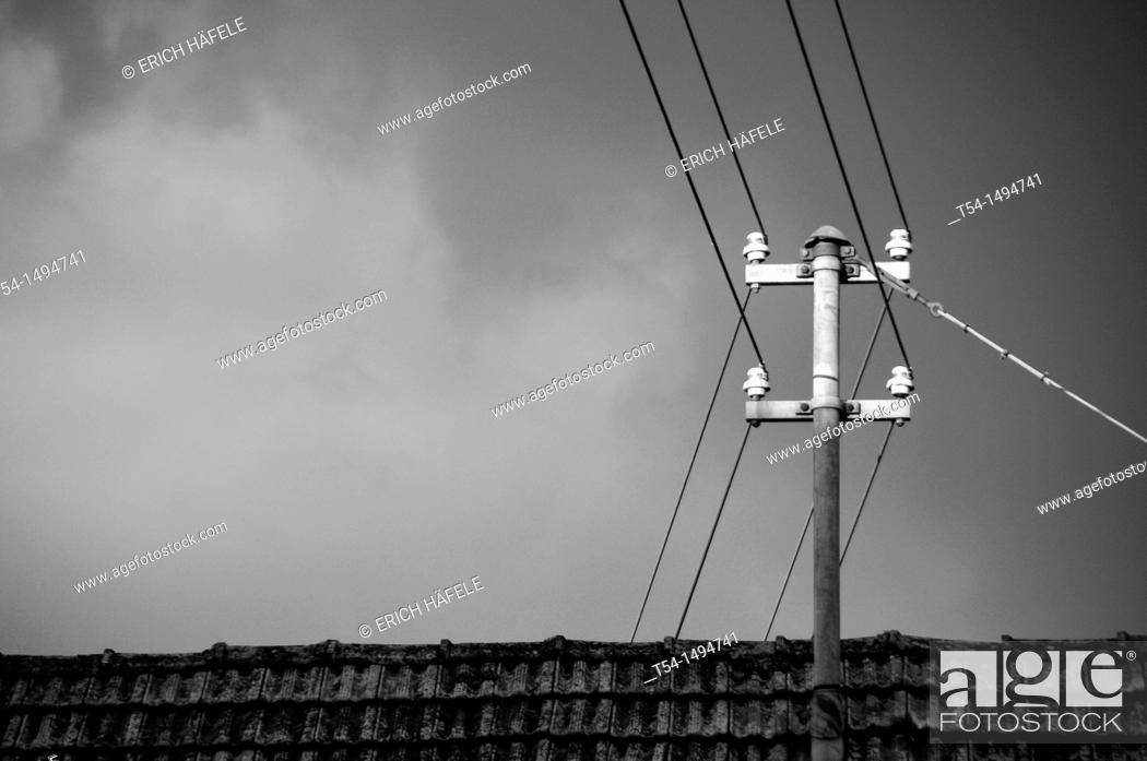 Stock Photo: Lateral current mood before storm.