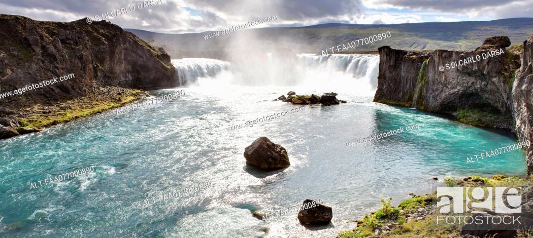 Stock Photo: Godafoss Falls, Iceland.