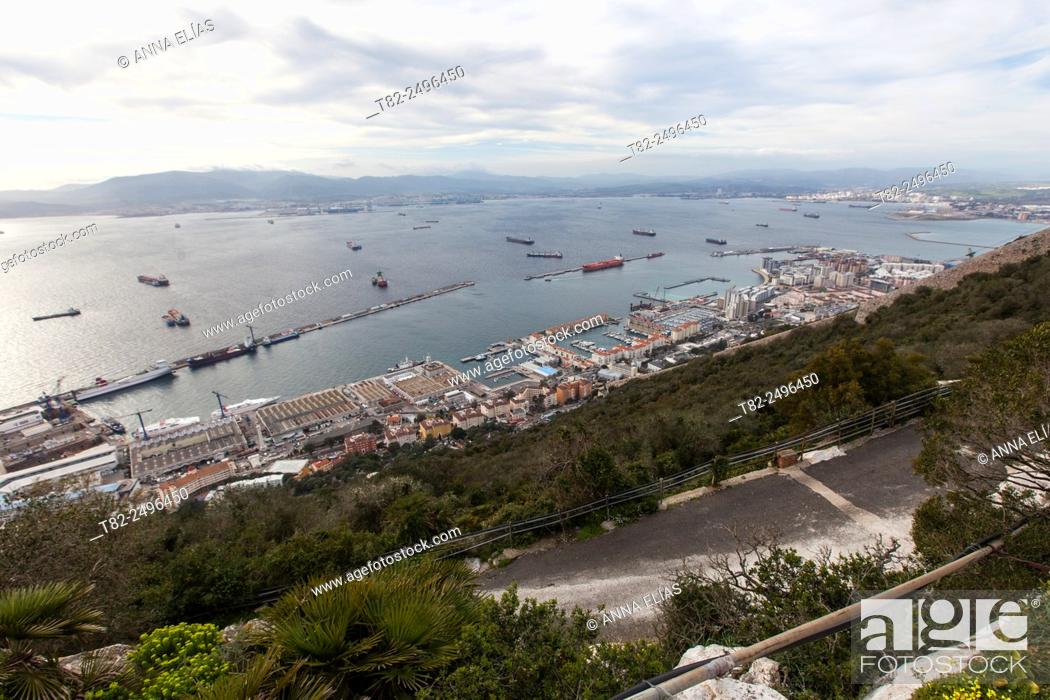 Stock Photo: Aerial view of gibraltar.