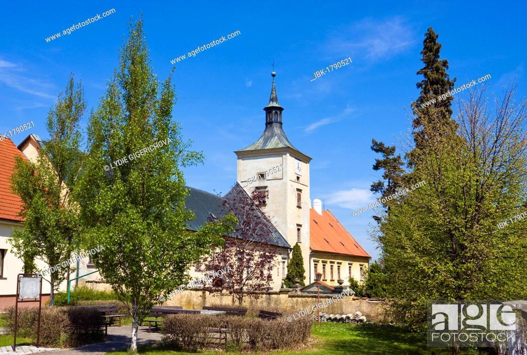 Stock Photo: Chateau, Strilky, Kromeriz district, Zlin region, Moravia, Czech Republic, Europe.