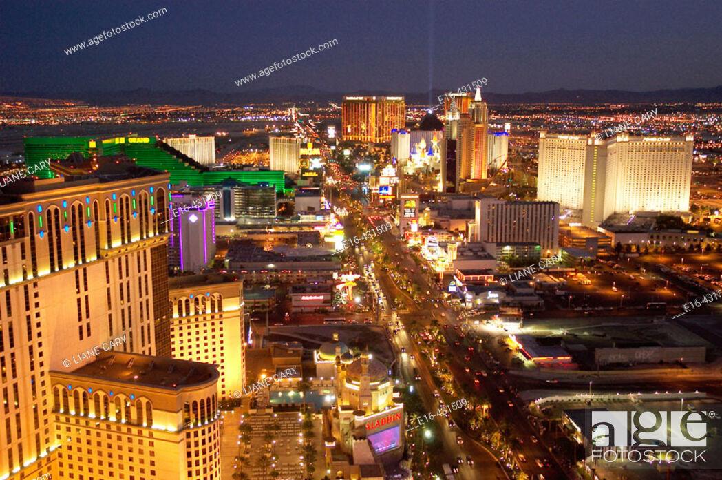 Stock Photo: Las Vegas Strip at night. USA.